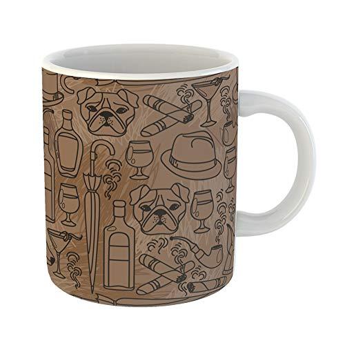Emvency Funny Coffee Mug Masculine for Gentleman's Club
