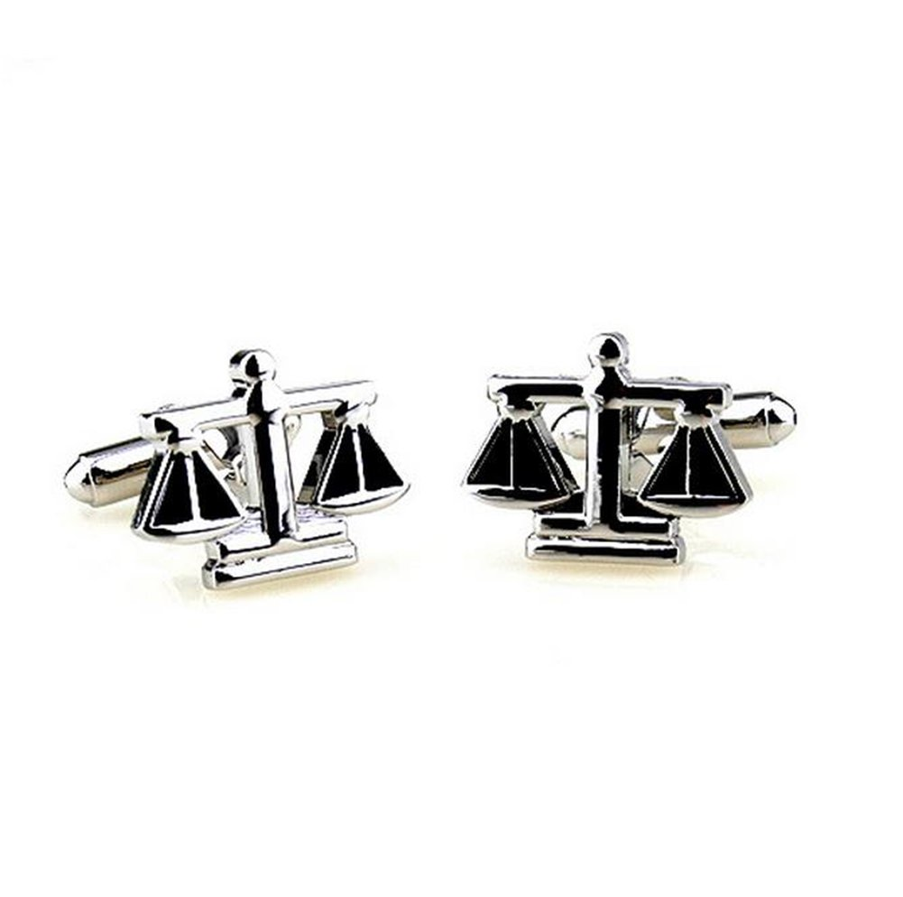 Hosaire Men's Cufflinks The Balance Cuff Link Delicate Cuff-link for Wedding Party Silver