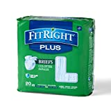 Medline FITPLUSLG FitRight Plus Briefs, Heavy Absorbency, Large, 48