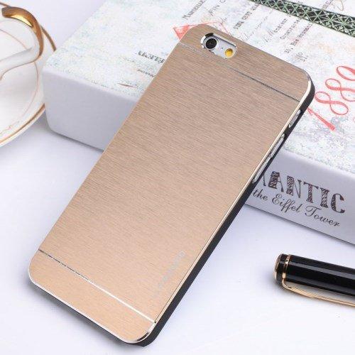 "Apple iPhone 6 4.7"" Motomo Metall Hard Case Aluminium Cover Brushed Gold"