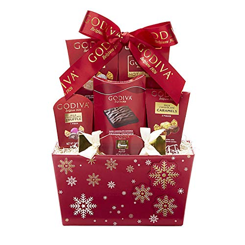 Godiva Red Snowflake Truffles and Cocoa Gift Basket ()