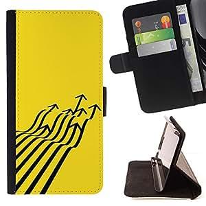 Momo Phone Case / Flip Funda de Cuero Case Cover - Avión de combate Flecha Arte abstracto amarillo - Samsung Galaxy Note 4 IV