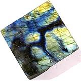 Zentron Crystal Collection: Large Polished Labradorite Slab Ex/A Quality with Velvet Bag