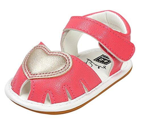 Covermason Sandalen Neugeboren Baby Schuhe Kleinkindschuhe Krippeschuhe Hot Pink