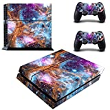 Decal Moments PS4 Console Set Vinyl Skin Decal Stickers Protective for PS4 Playstaion 2 Controllers-Galaxy Space For Sale