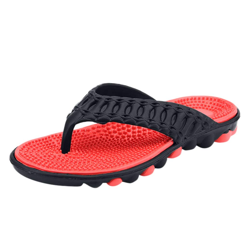 7bd48a24a Amazon.com  Corriee Mens Summer Beach Flip Flops Shoes Thong Sandal Yoga  Lightweight Shower Beach Slippers with Arch Support  Clothing