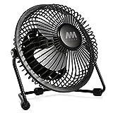 Mini Fan, Mumba 4-Inch High Velocity Desktop Fan, USB Powered, Super Mute, 180 Degree Free Angle Rotatable Laptop Fan, Small Mental Cooling Fan (Black)