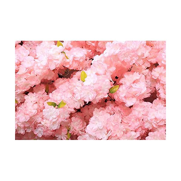 J-beauty Cherry Blossom Tree Thick Cherry Flower Artificial Plant for Indoor Outdoor School Party Restaurant Mall, Silk Flower (7ft T)