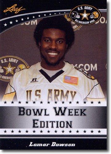 2011 Leaf US Army All-American Bowl Week Edition Prospect Card # West-38 Lamar Dawson LB - USC / Boyle County High School (First Football Trading Card / Rookie - West Stores County