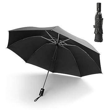 Qwhome Paraguas Plegable Paraguas Inverso: A Prueba De Viento ...