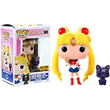 Funko Pop! Animation Sailor Moon #90 with Moon Stick and Luna (Exclusive)