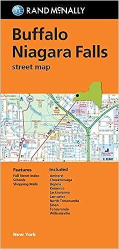Folded Map Buffalo and Niagara Falls Street Map Rand McNally
