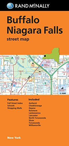 Folded Map: Buffalo and Niagara Falls Street - Outlets Niagara