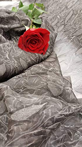 Gray Chiffon Silk Crinkle Sheer Fabric Sold by The Yard Gown Prom Dress Flowy Draping Decoration Clothing Bridal Evening - Dress Silk Chiffon Crinkle