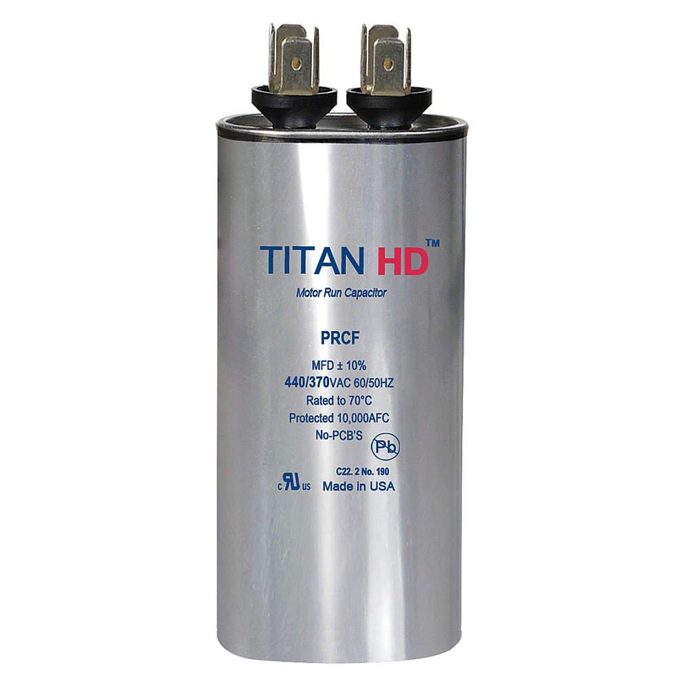 TITAN HD PRCF60A Motor Run Capacitor,60 MFD,440V,Round