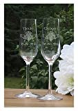Claddagh Champagne Flutes - Lead Free Crystal 7 oz Wedding Glasses