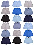 Andrew Scott Boys 18 Pack Cotton Boxer Shorts (Small / 6-8, Assorted Solids -Prints)