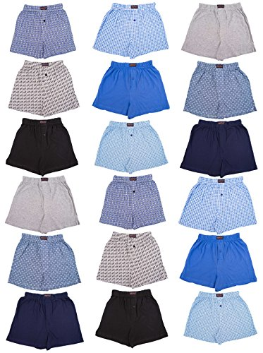 4 Assorted Prints (Andrew Scott Boys 18 Pack Cotton Boxer Shorts (X-SMALL / 4-5, Assorted Solids -Prints))
