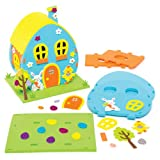 Easter Egg House Kit for Children to Make Decorate and Display - Creative Craft Toy Set for Kids