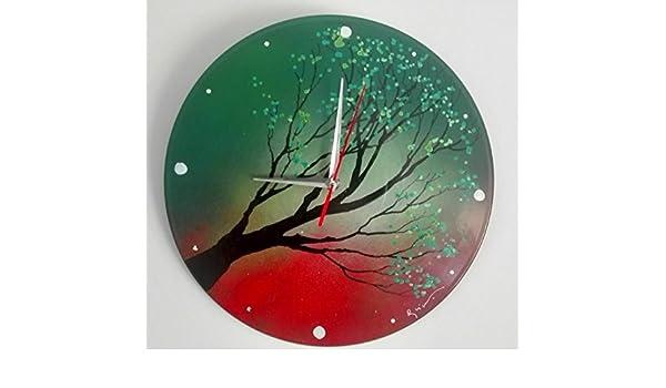 reloj de pared pintado a mano: Amazon.es: Handmade