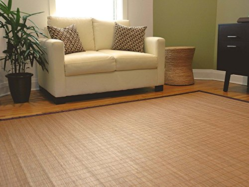 5' x 8' Villager Natural Bamboo Rug ()