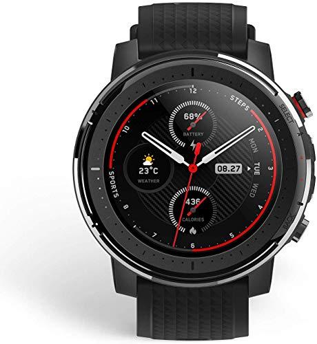 Amazfit Stratos 3 Smartwatch Reloj Inteligente 19 modos deporte Activitiy Tracker GPS controla musica-Negro