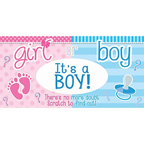 (Gender Reveal Announcement Scratch Off Ticket