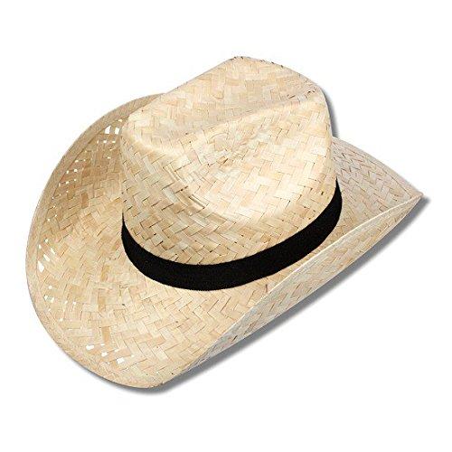S/O Strohhut Cuba wie Cowboyhut Bast Hut Stroh Hut Hawaii Party