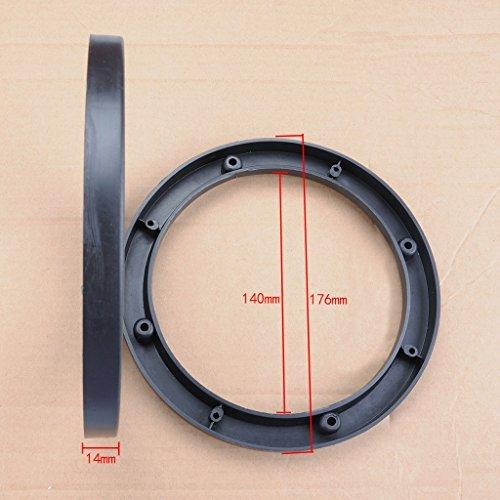 Wotefusi Waterproof Speaker Spacer Extender Rings 6.5 Car Speaker Black 1.2 Depth Extender Spacer Rings Adapter