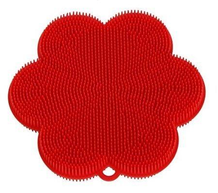 Silikonschwamm Swisch (Spülschwamm) Blume rot