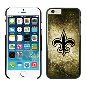 NFL New Orleans Saints iPhone 6 Cases 06 Black 4.7 Inches NFLIphoneCases14348