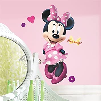 Amazoncom Minnie Mouse Bow Tique 40 Giant Wall Decal Disney Room