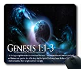 Inspirational Bible Verse Quotes Genesis 1:1-3 Oblong Mouse Pad in 240mm*200mm*3mm VQ0711003