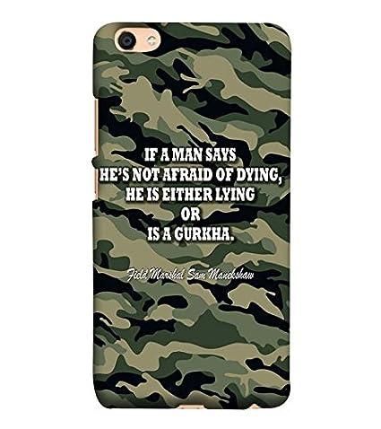 YuBingo Designer Phone Back Case Cover Vivo V5 Indian Army Quote