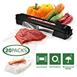Rockland Guard Vacuum Sealer Machine Automatic Air Sealing System for Food Packing, Food Preservation, Fresh Produce Storage - Portable Commercial Electronic Household Device - with 20 Sealing Bags