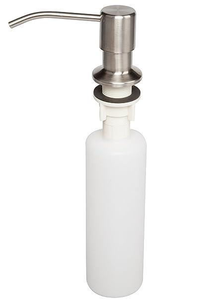 Attmu 13 OZ Dispensador de jabón, bomba de acero inoxidable Jefe de cocina del dispensador