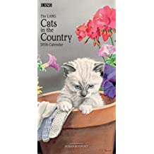 Perfect Timing Lang Cats in The Country 2016 Vertical Wall Calendar by Susan Bourdet, January 2016 to December 2016, 7.75x15.5-Inch (1079115)
