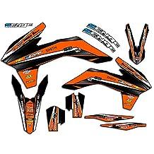 Senge Graphics Early 2001 KTM SX (Has the same plastics as the 2000 SX 250), Vigor Orange Graphics Kit