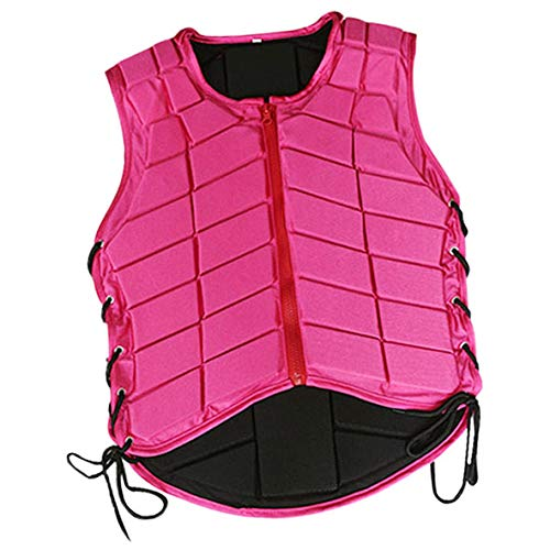 Prettyia Horse Riding Vest Equestrian Body Protector Safety EVA Padded Breathable Adjustable Waistcoat Plus Size - Pink, Kids-M
