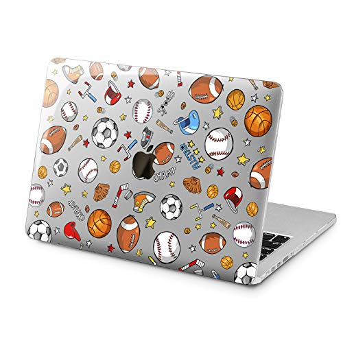 Lex Altern Clear Case for Apple MacBook Air 13 Mac Pro 15 inch Retina 12 11 2019 2018 2017 2016 2015 Sports Pattern Baseball Football Basketball Cover Design Touch Bar Print Shell Protective Woman]()