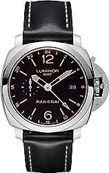 Panerai Luminor Automatic Black Dial Black Leather Mens Watch PAM00531