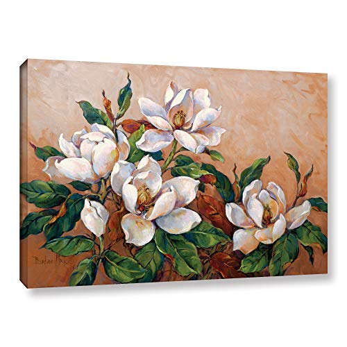 ArtWall Barbara Mock's Magnolia Inspiration, Gallery Wrapped Canvas 16x24