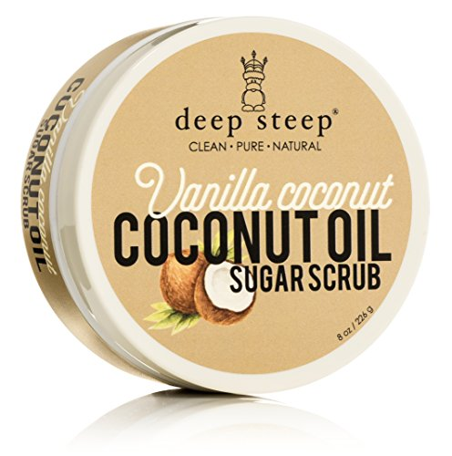 Deep Steep Coconut Oil Sugar Scrub, Vanilla, 8 Fluid Ounce (Coconut Oil Sugar Scrub compare prices)