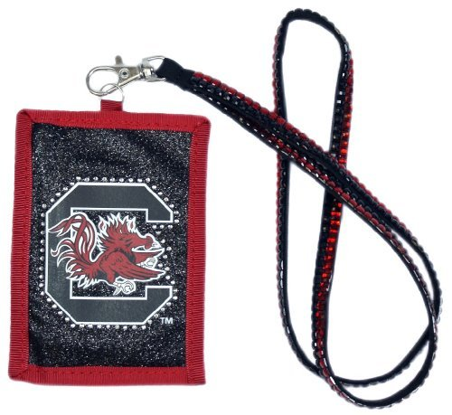 (NCAA South Carolina Gamecocks Beaded Lanyard with Nylon Wallet)