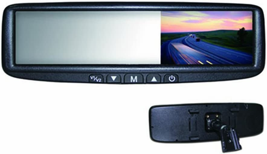 Replacement or Clip-on Rear-View Mirror with 4.3 TFT-LCD Backup Camera Monitor BOYO VTB46M