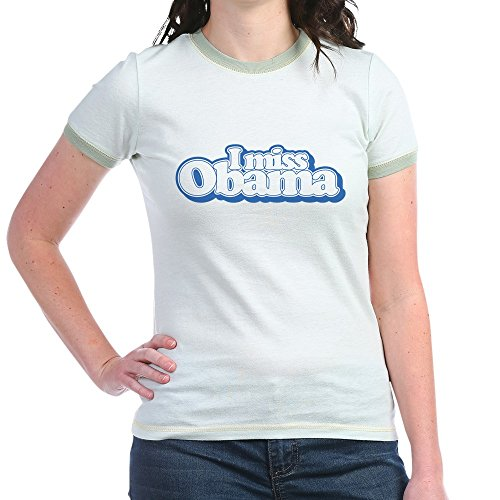 CafePress Miss Obama B - Jr. Ringer T-Shirt, Slim Fit 100% Cotton Ringed Shirt Obama Ringer