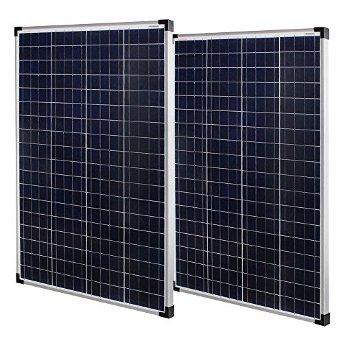 Richsolar 2pcs 100 Watt Polycrystalline 100W 12V Solar Panel High Efficiency Poly Module RV Marine Boat Off Grid (2pcs)