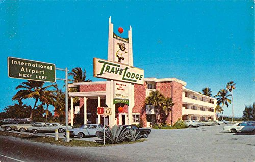 Dania Florida Fort Lauderdale Airport Travelodge Vintage Postcard - Lauderdale In Stores Fort Florida