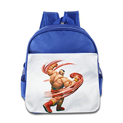 Price comparison product image XJBD Custom Cute Street Fighter V Kids School Bagpack For 1-6 Years Old RoyalBlue