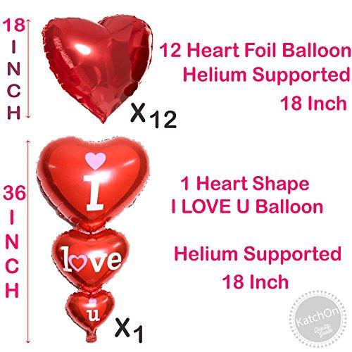 12 1 red heart shape balloons 1 i love u balloon helium 12 negle Choice Image